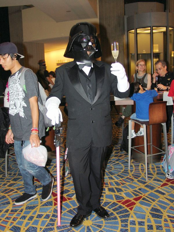Darth Vader Dressed in Black Tie