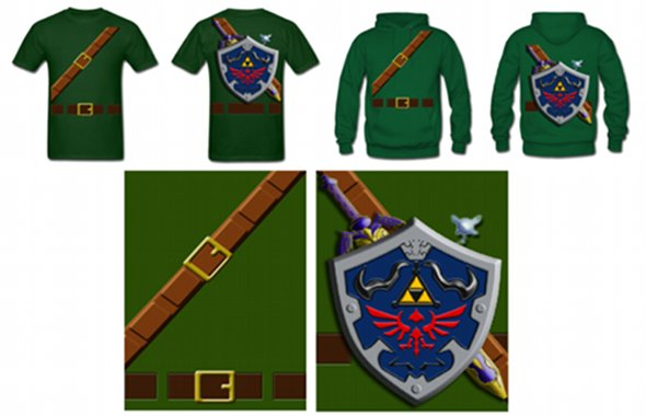 Link Cosplay Shirt and Hoodie