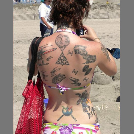 Star Wars Back Tattoos