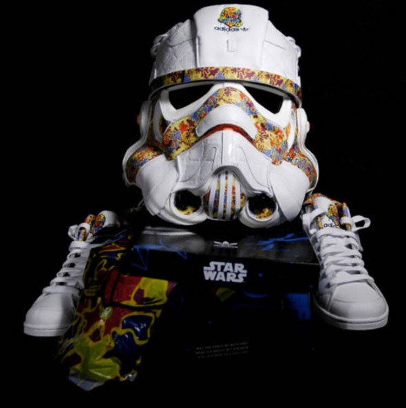 Stormtrooper Helmet Made With Adidas Shoes