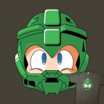 Mega Man Master Chief T-Shirt Design