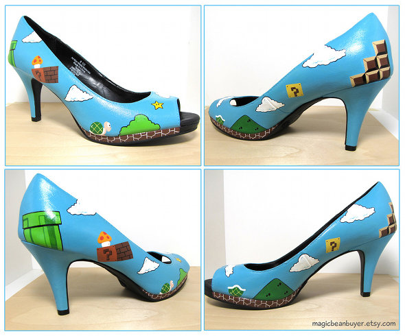 Super Mario Bros High Heeled Shoes