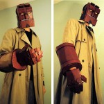 Cardboard Hellboy Cosplay