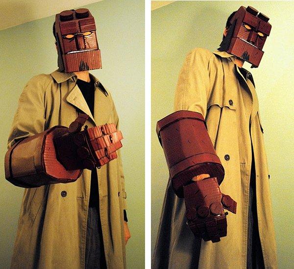 Cardboard Hellboy Cosplay