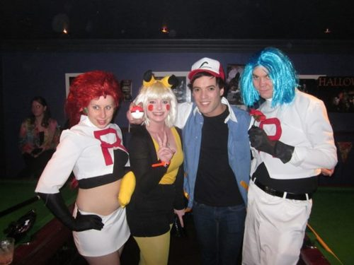 Pikachu and Ash with Team Rocket Cosplay