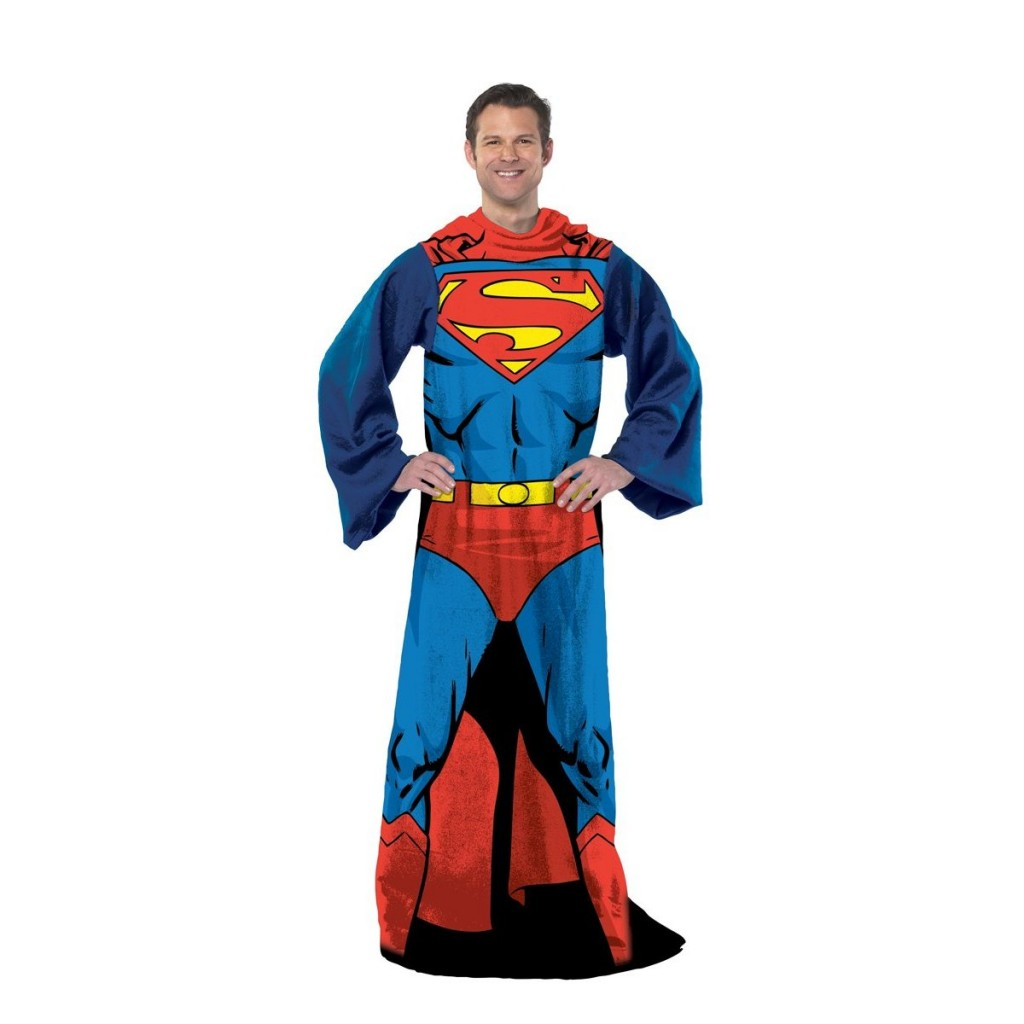 Superman Blanket With Sleeves