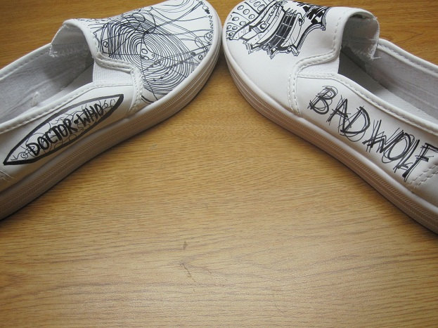 Doctor Who Shoes Side