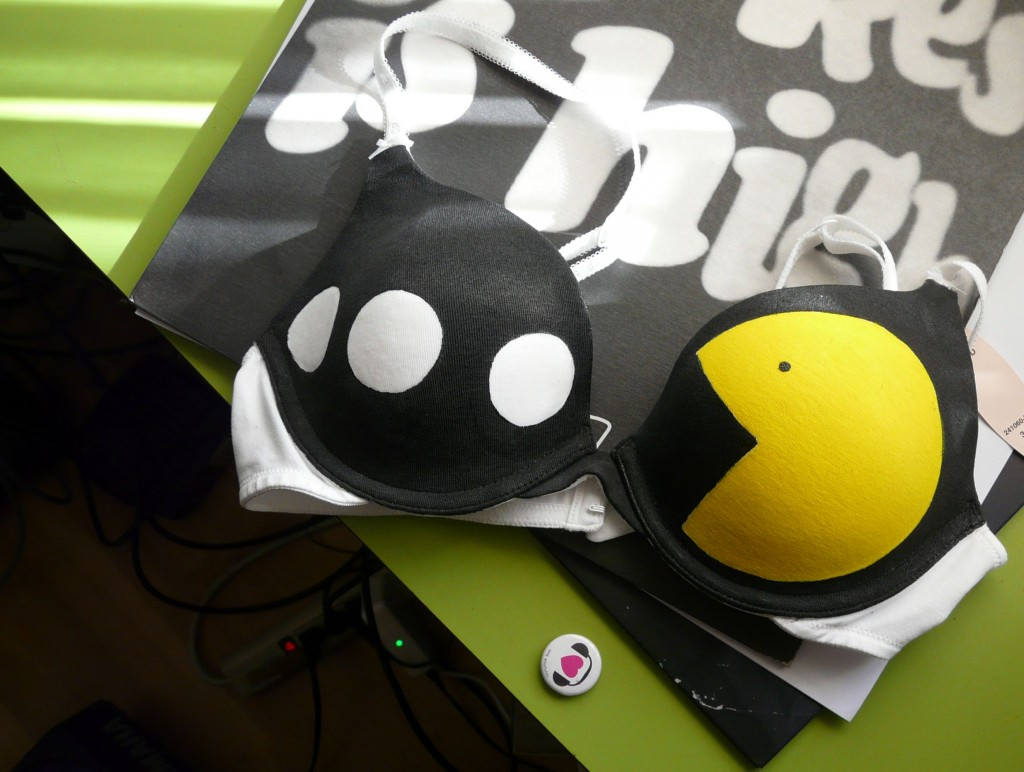 Glow in the Dark Pac-Man Bra