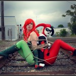 Harley Quinn and Poison Ivy Tied Up On Train Tracks