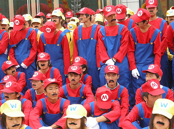 Japanese Mario and Wario Cosplay