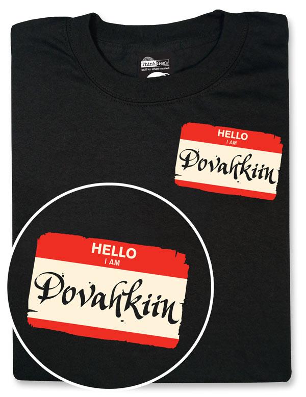Hello I am Dovahkiin Skyrim Shirt