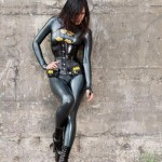 Sexy Latex Batgirl Cosplay
