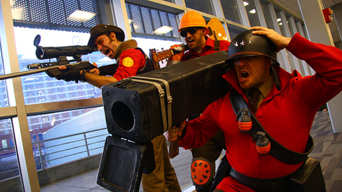 Sniper Engineer and Soldier Team Fortress 2 Cosplay