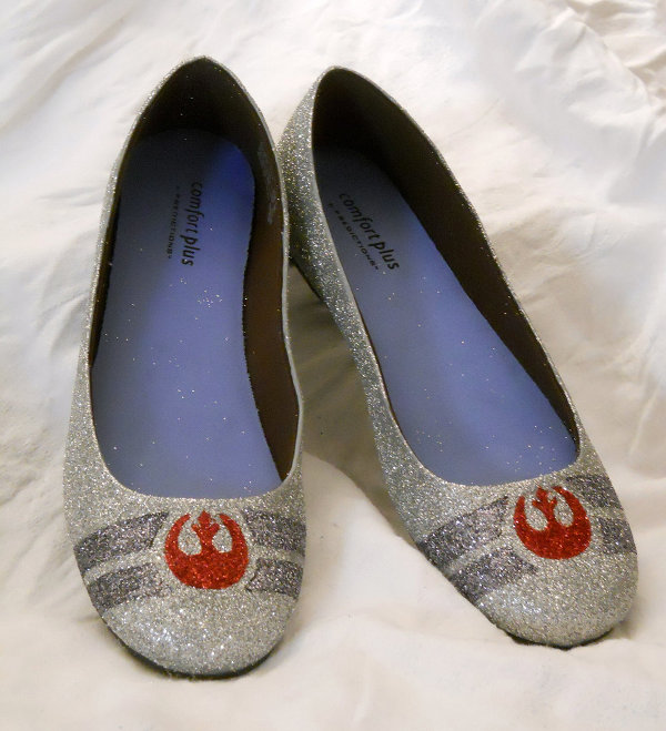Star Wars Rebel Alliance Glitter Shoes