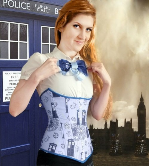 Doctor Who Corset and TARDIS Bow Tie