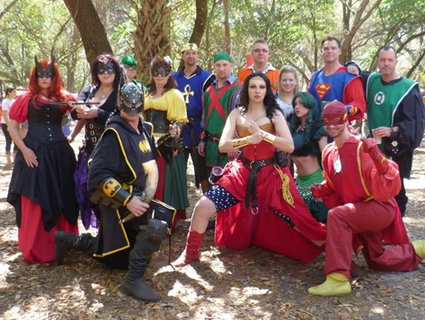 Renaissance Justice League Cosplay