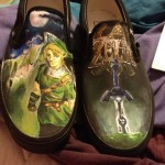 Hand-Painted Legend of Zelda Shoes [pic]