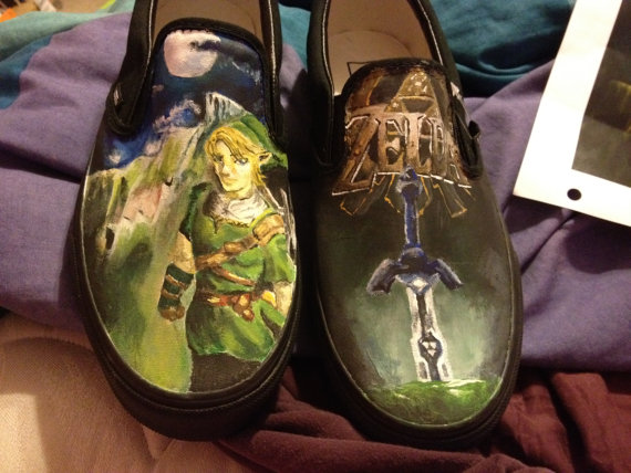 Hand-Painted Legend of Zelda VANS Shoes