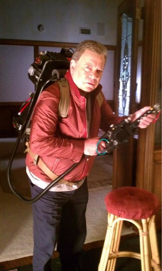 William Shatner as a Ghostbuster