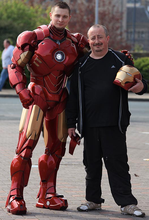 Cardboard Iron Man Cosplay and Creator Mark Pearson