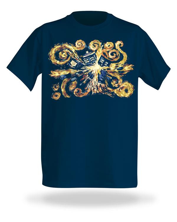 Doctor Who Van Gogh Exploding TARDIS T-Shirt