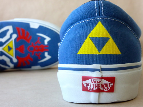 Legend of Zelda Twilight Princess Vans Shoes Back