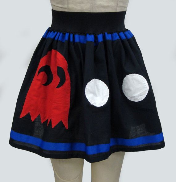 Pac-Man and Ghost Skirt Back