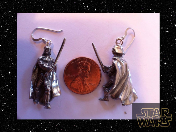 Star Wars Darth Vader Pewter Earrings