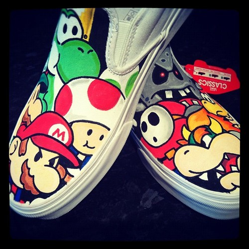 Custom Paper Mario Vans Shoes