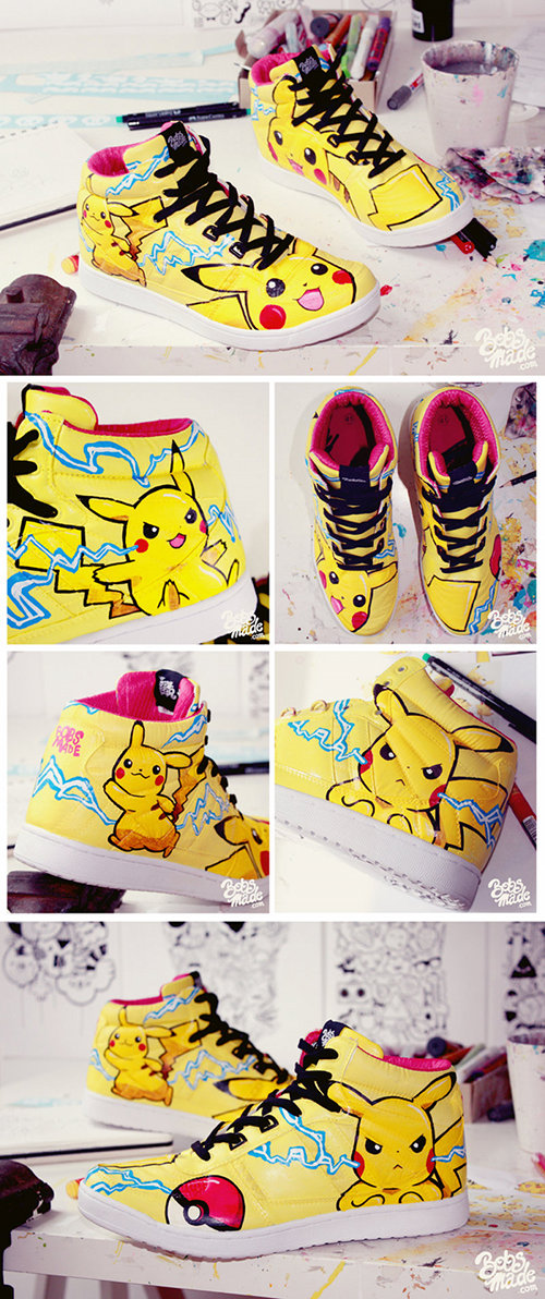 Custom Pikachu Shoes by Bobs Made