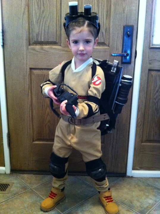 Cute Little Girl Ghostbuster
