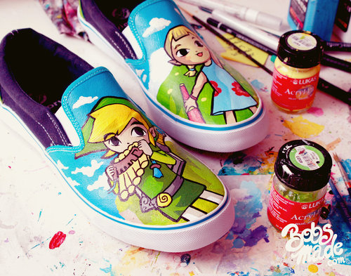 Legend of Zelda Wind Waker Shoes