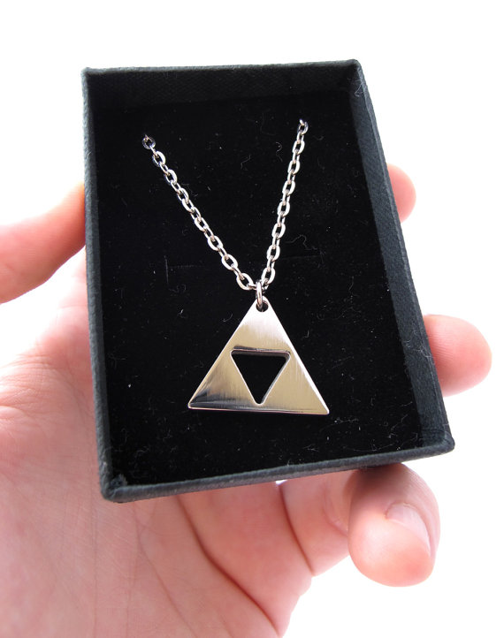 Stainless Steel Legend of Zelda Triforce Necklace