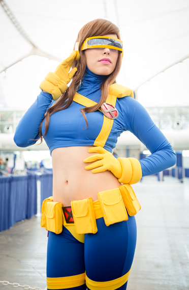 Sexy Lady Cyclop X-Men Cosplay