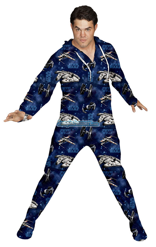 Adult Star Wars Footie Pajamas