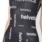 Helvetica Font Bathingsuit