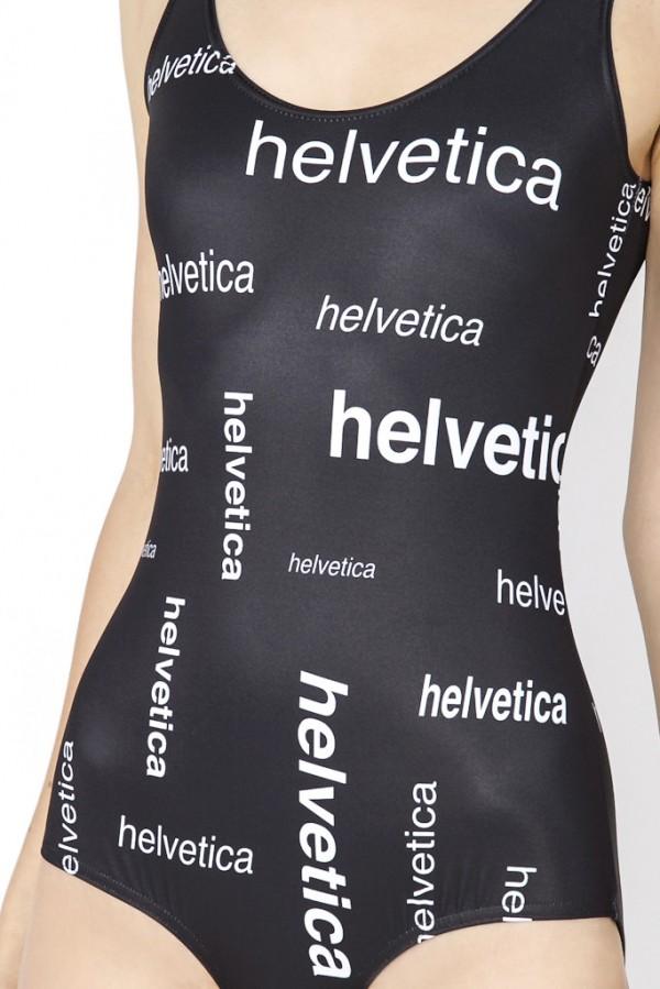 Helvetica Font Bathingsuit