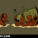 $10 TODAY ONLY!  Jawas Stealing a Dead Dalek T-Shirt [pic]