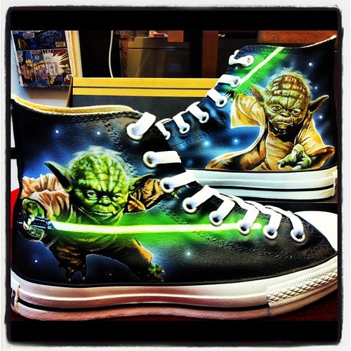 Custom Star Wars Yoda Shoes