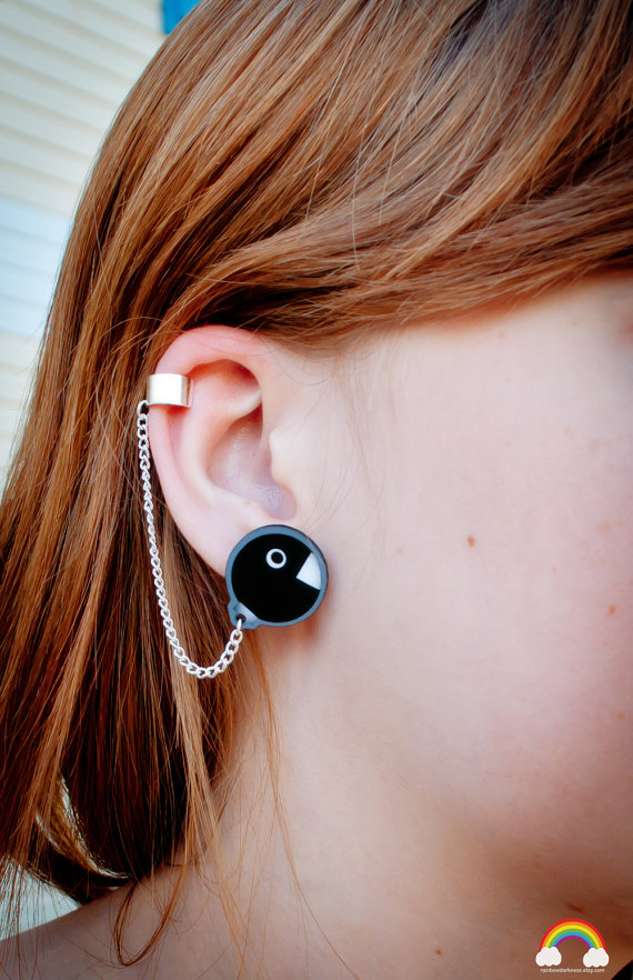 Super Mario Chain Chomp Earrings