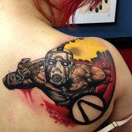 Amazing Borderlands Box Art Tattoo [pic]