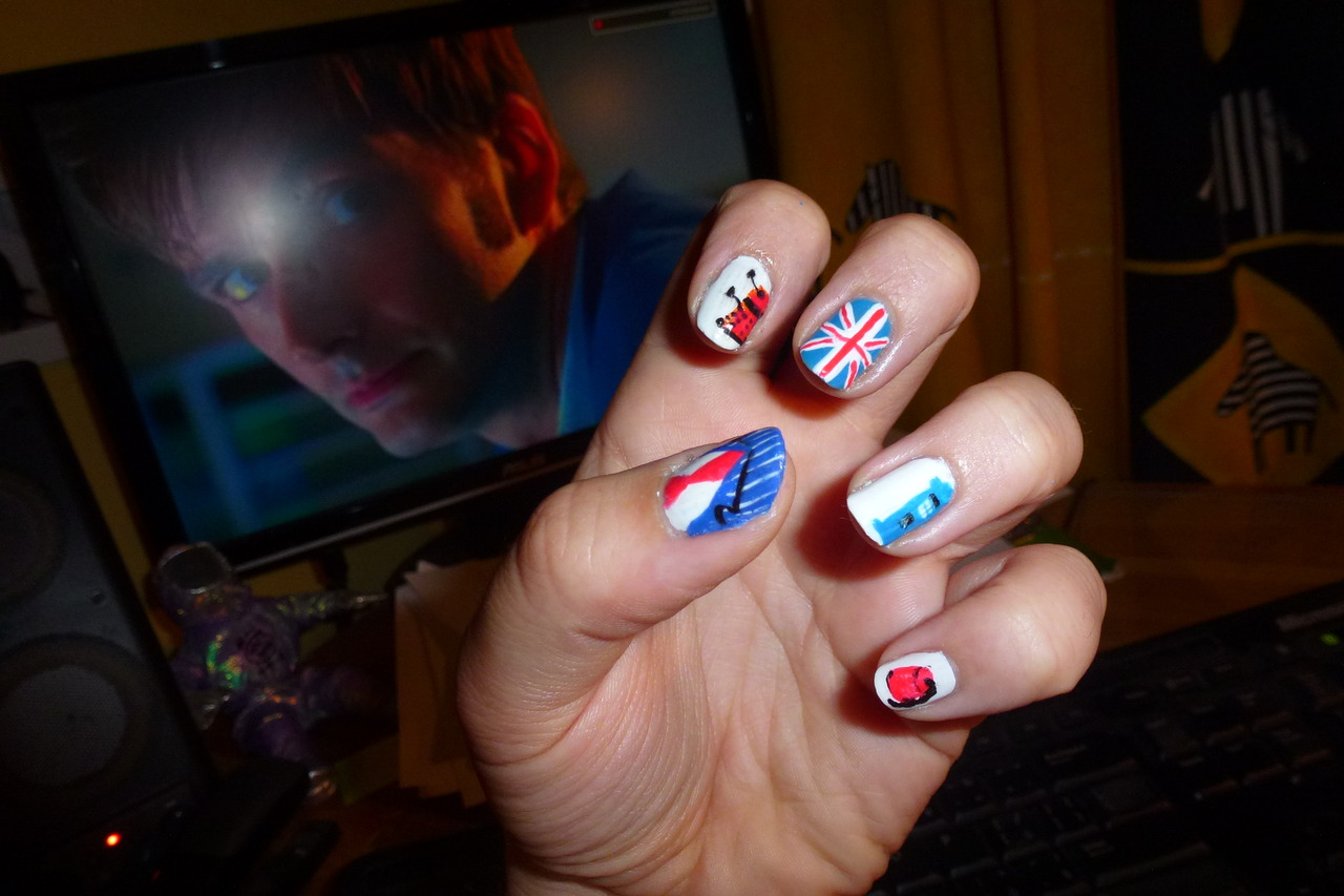 This Doctor Who Fingernail Art Is Fantastic Pic Fanboy Fashion