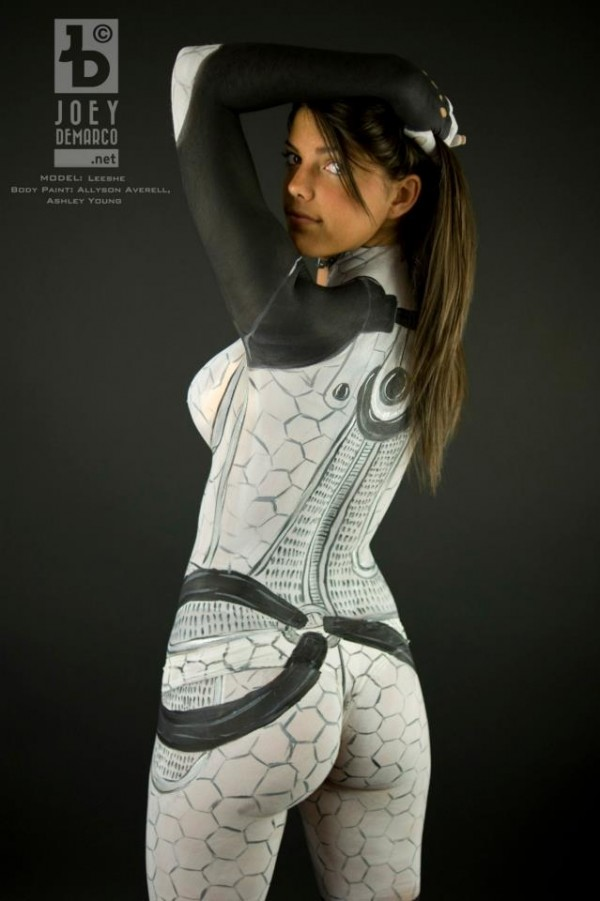 Miranda Mass Effect Body Paint Back