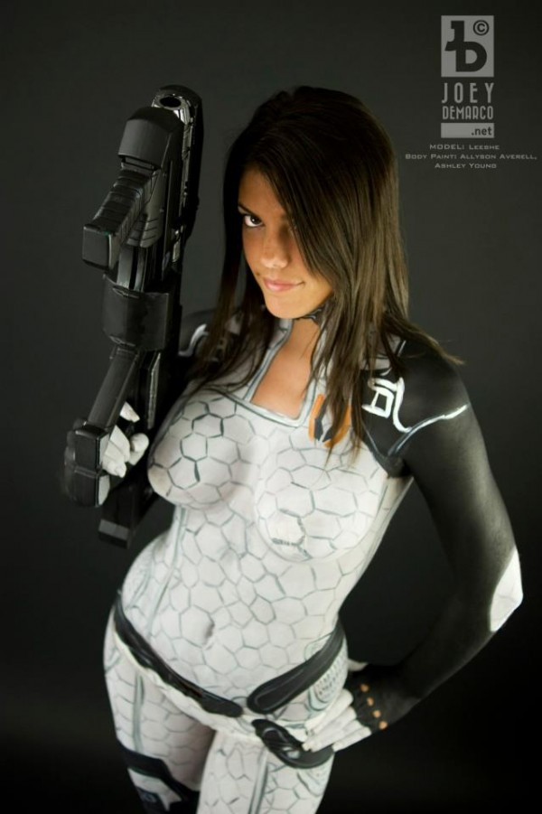 Miranda Mass Effect Body Paint