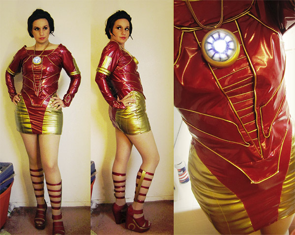 Iron Man Cocktail Dress Cosplay