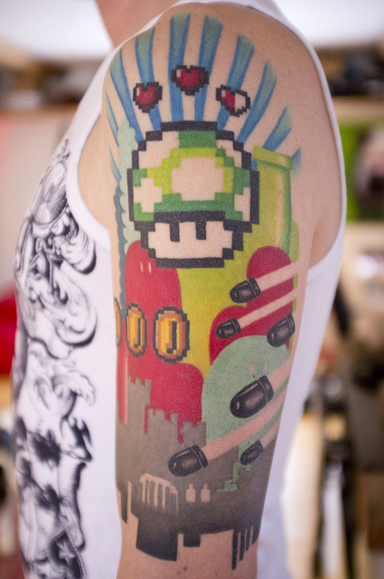 Gaming Sleeve Tattoo