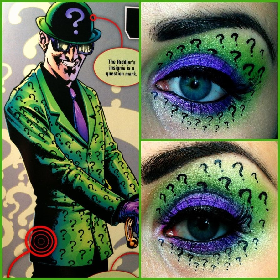 Batman Riddler Eye Makeup