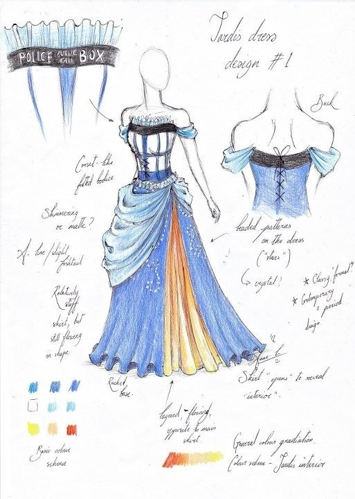 TARDIS Dress Design by Anne Luise Richards