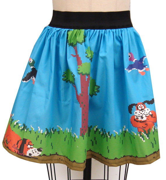 Nintendo Duck Hunt Skirt