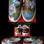 Beautiful Hand Painted Legend of Zelda: Ocarina of Time Shoes